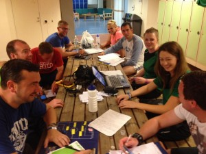 And finally....it's midnight and our brilliant staff are still making final preparations for Tuesday!